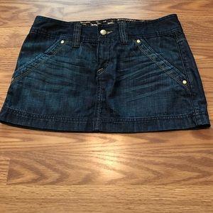 NeW Express denim jean mini skirt